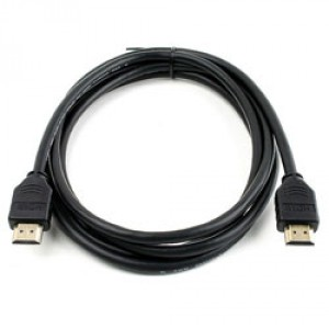 HDMI HIGH SPEED WITH ETHERNET 4K 19-PIN M-M 5,0M SVART