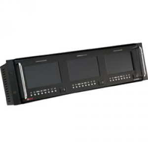 "TRIPLE 5"" HD UNIVERSAL LCD MONITOR  AUDIO IN A RACKMOUNT"