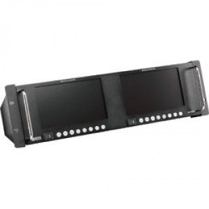 "DUAL 7"" HD UNIVERSAL LCD MONITOR WITH AUDIO, RACKMOUNT"