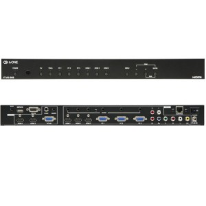 HDMIX3, VGAX3, YUVX1, CVX1 TO HDMI/VGA SCALING SWITCH W/AUDI