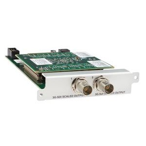 OUTPUT MODULE WITH SCALING 2X 3G/HD/SD-SDI VIA BNC