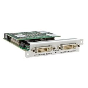 OUTPUT MODULE WITH SCALING: 2X DVI-I