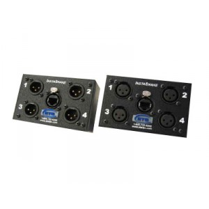 INSTASNAKE  RECEIVE (4) MXLR TO RJ45 JACK, ALL PINS